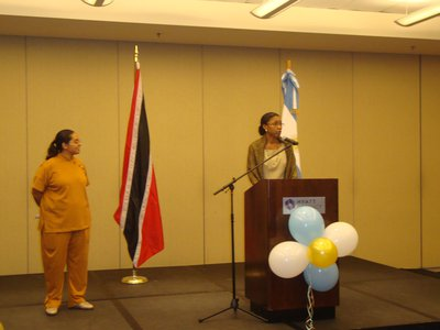 Ms. Reita Toussaint, Deputy Permanent Secretary on National Day of Argentina