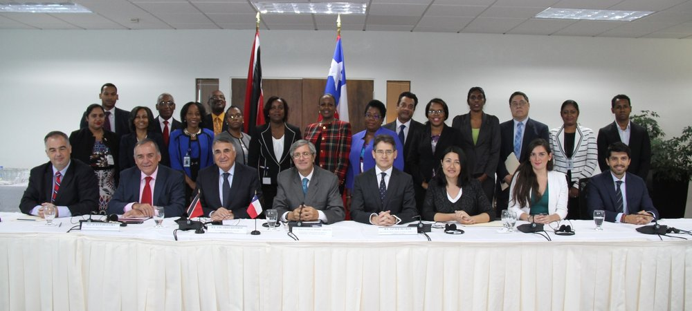 Group Photo from the III Round of Political Consultations between the Republic of Trinidad and Tobago and the Republic of Chile