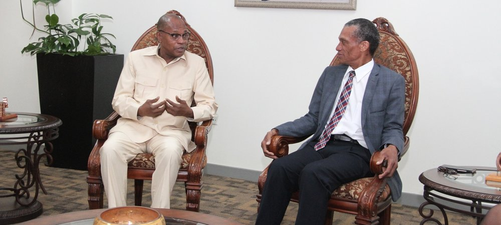 Hon Dennis Mosess meets with Dr. Mohammed Ibn Chambas UN Secretary-General's Special Representative and Head of UN