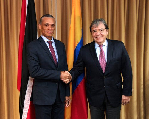 His Excellency Carlos Holmes Trujillo García, Minister of Foreign Affairs of Colombia paid a Working Visit to Trinidad and Tobago and met with Senator the Honourable Dennis Moses, Minister of Foreign and CARICOM Affairs on 15th May, 2019