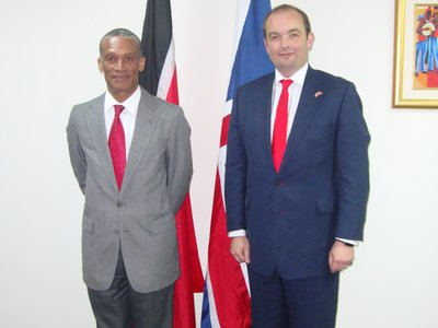 Minister Moses with Mr. James Duddridge MP