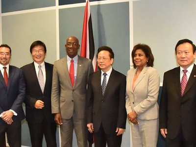 PM Rowley and His Excellency Chen Changzhi