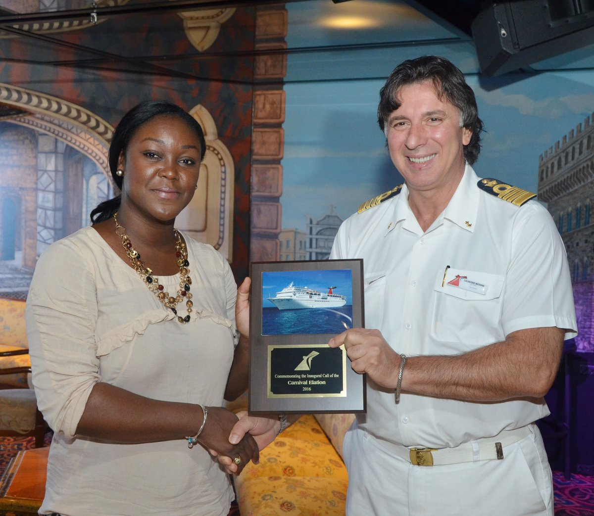 SEC. TRACY DAVIDSON-CELESTINE RECEIVES TOKEN FROM CAPT SALVATORE MESSINA DSC_0492.jpg