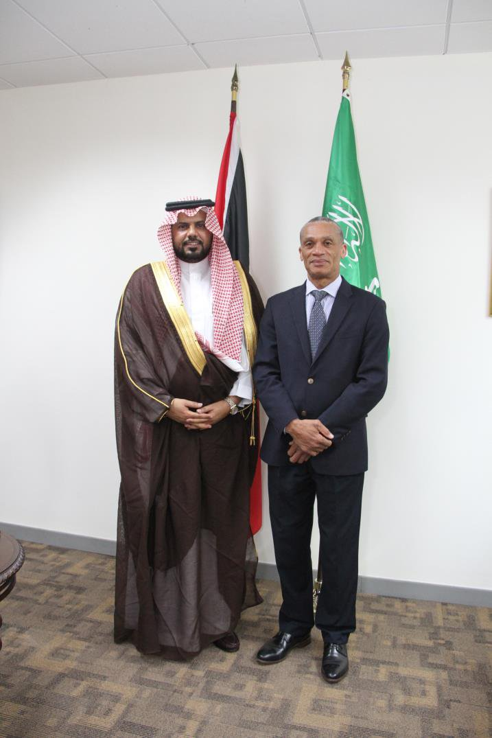 Senator the Honourable Dennis Moses, Minister of Foreign and CARICOM Affairs and His Excellency Saad bin Abdullah Al-Saad