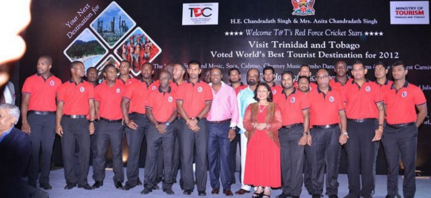 Welcoming T&T's Red Force Cricket Stars (india)
